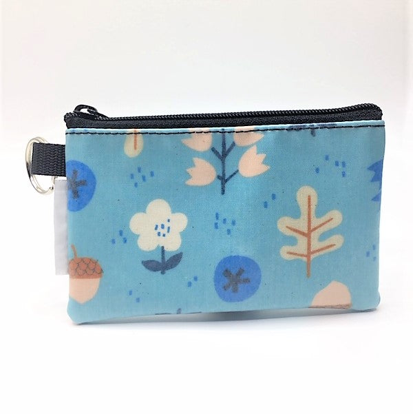 Coin Purse in Blue Acorn
