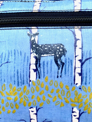 Short Messenger Bag in Blue Deer