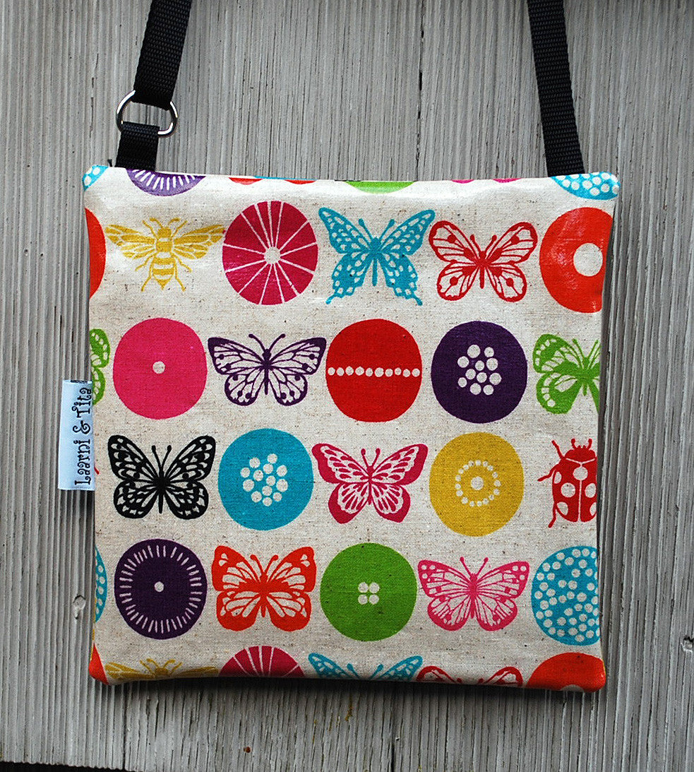 Small Travel Purse in Butterfly print