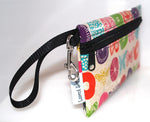 Large Wristlet in Butterfly print