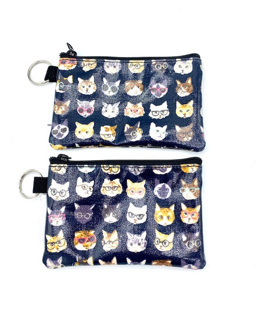 Coin Purse in Cats with Glasses