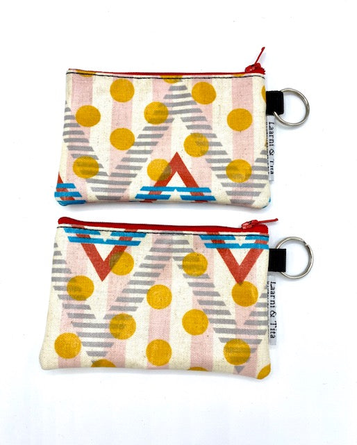 Coin Purse in Chevron Dots