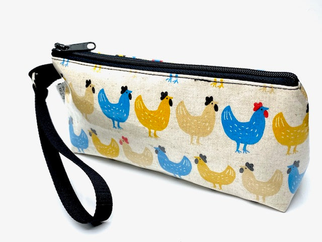 Makeup Bag in Chicken Print