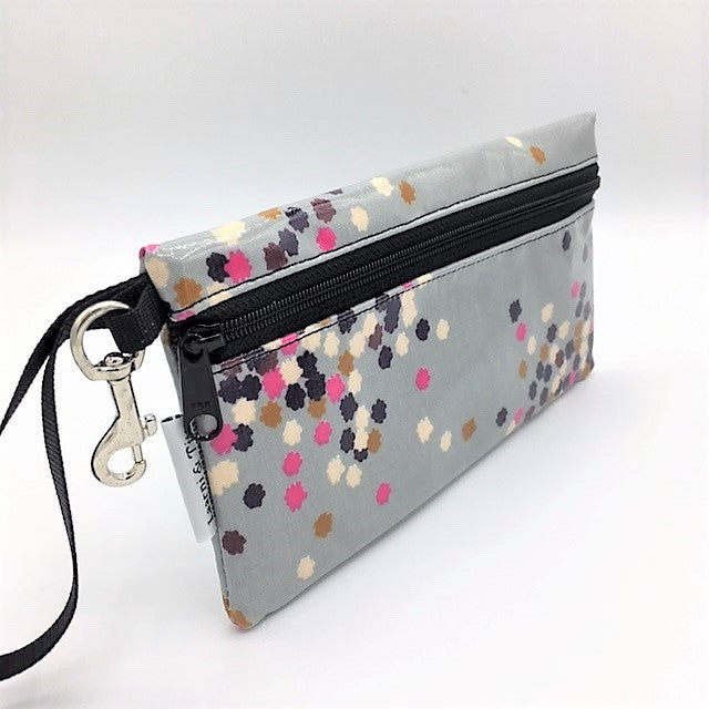 Large Wristlet in Confetti Print