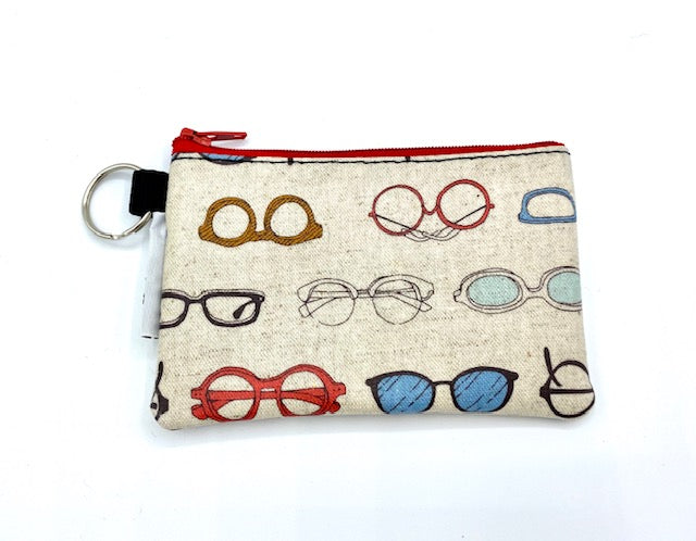 Coin Purse in Eye Wear-Cream