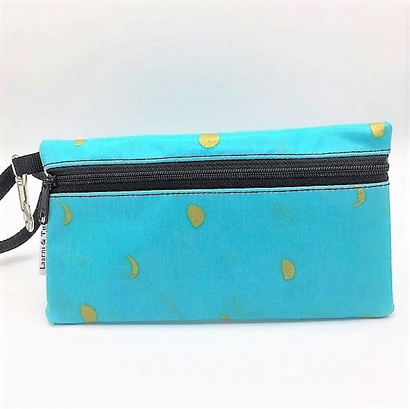 Large Wristlet in Gold Moons