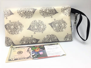 Medium Wristlet in Hedgehogs