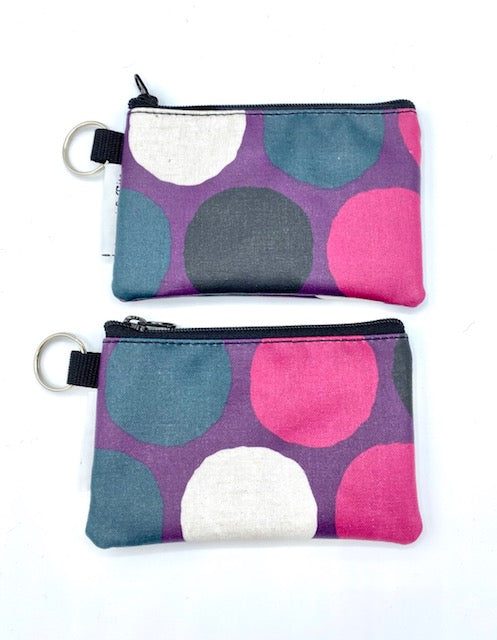 Coin Purse in Purple Gold Dots