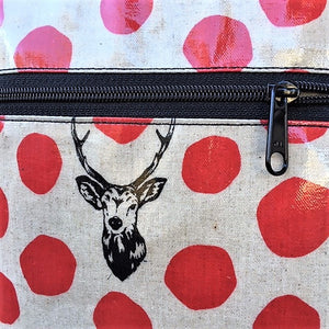 Medium Travel Purse in Red Deer with Glasses