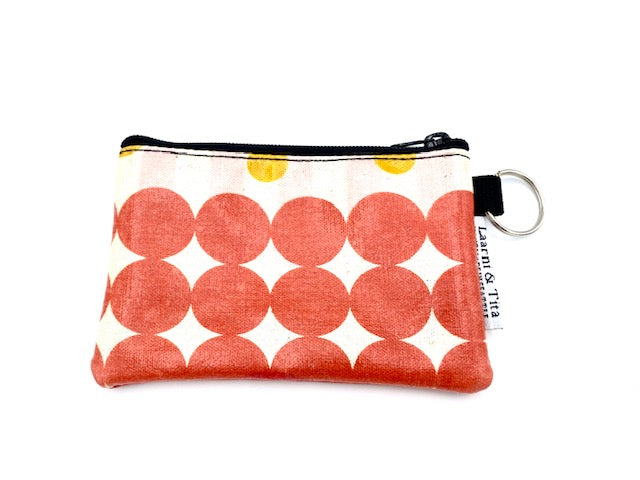 Coin Purse in Red Circles