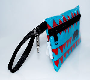 Medium Wristlet in Blue Rhino