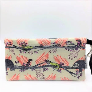 Large Wristlet in Sloth Print