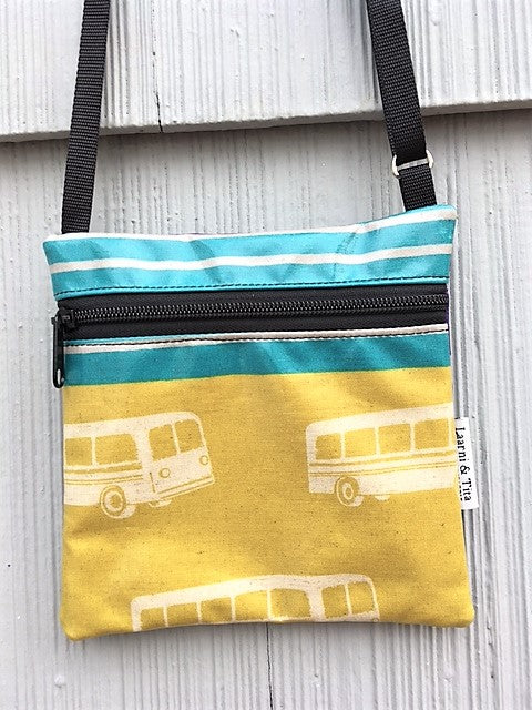Small Travel Purse in Yellow Bus