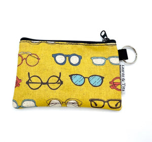 Coin Purse in Eye Wear-Yellow