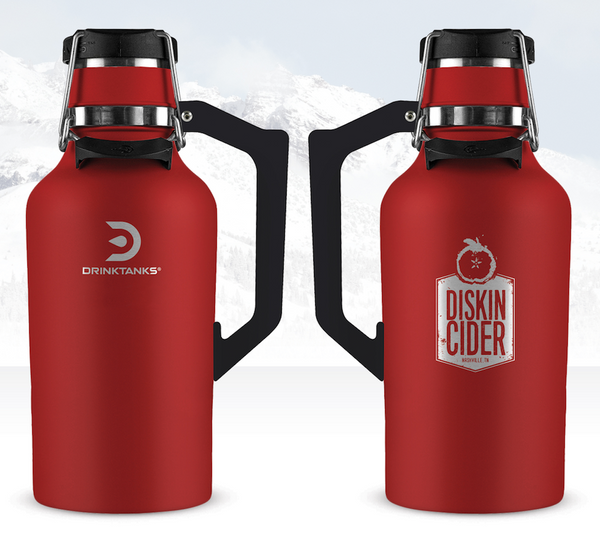64 oz Red Growler