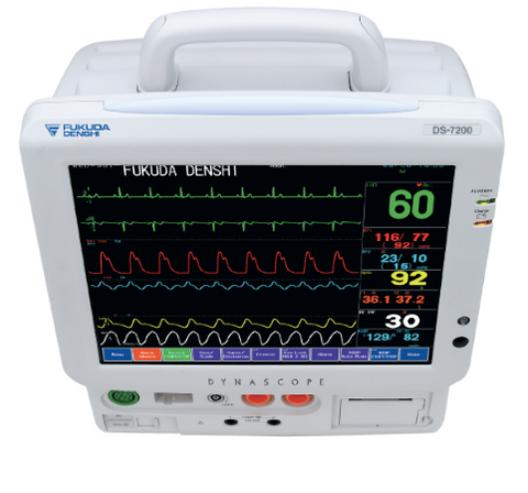 Fukuda Denshi Dynascope DS-7100 Patient Monitor (with C02)