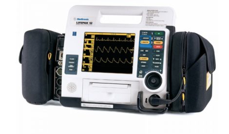 Image of Physio-Control Lifepak 12 ( 12 Lead, Biphasic, Pacing, Sp02, NIBP, EtC02, and AED)