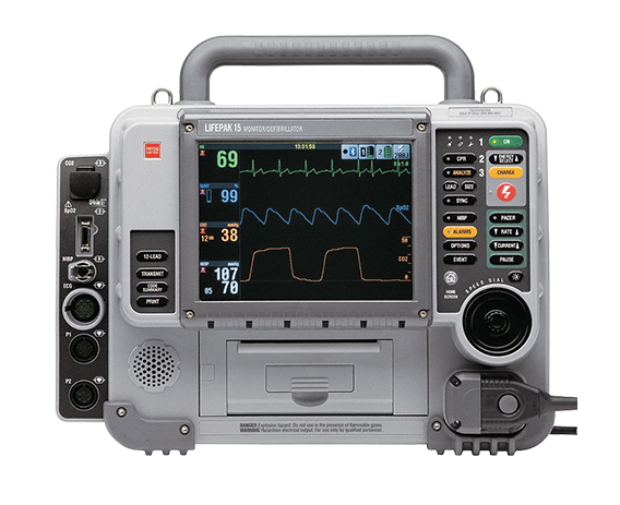 Image of Physio-Control Lifepak 15 (12-Lead, Biphasic, Pacing, AED, & Version 2)