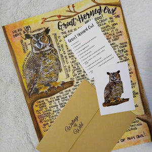 Great Horned Owl Letter October 2020