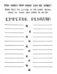 Emperor Penguin Activity Sheet