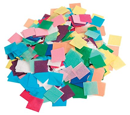 1kg Square 17mm Tissue Confetti