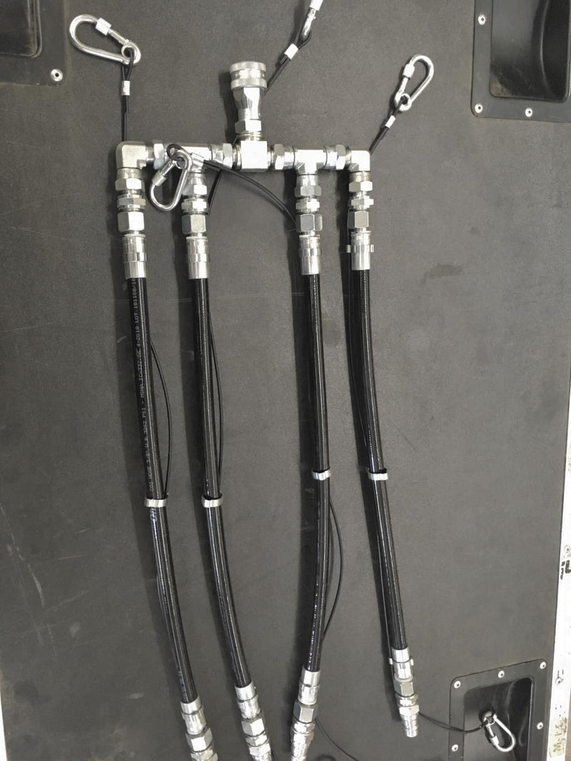 CO2 Combiner 4 Inputs - 1 Output With Fast Coupling