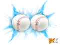 Gender Reveal Exploding Base Balls 2pk