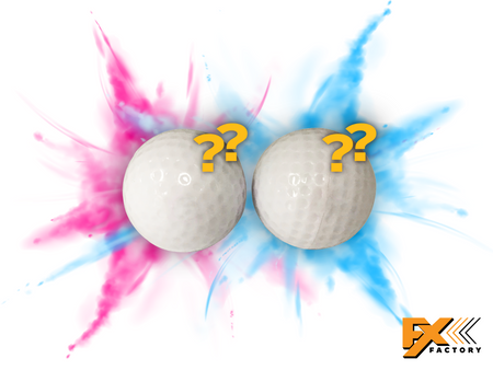 Gender Reveal Exploding Golf Balls 2pk