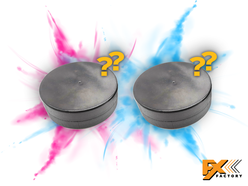 Gender Reveal Exploding Hockey Pucks 2pk
