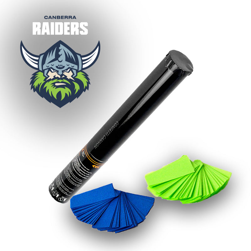 NRL Raiders Confetti and Streamer Cannons