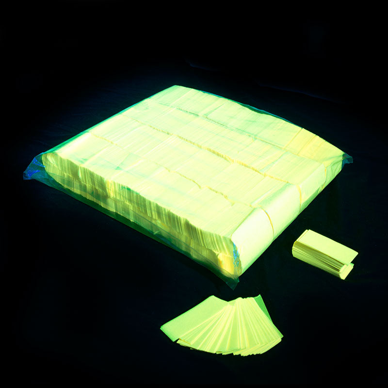 1kg Rectangle UV Fluro Tissue Confetti