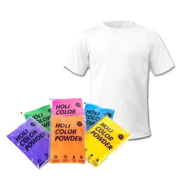 Holi Powder Mixed 100g Pack & T-Shirt