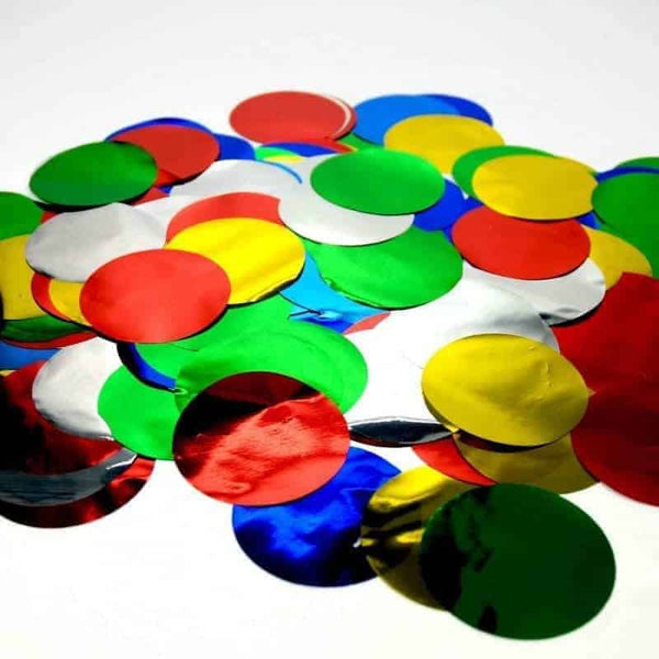 1kg Circle Metallic Confetti 55mm