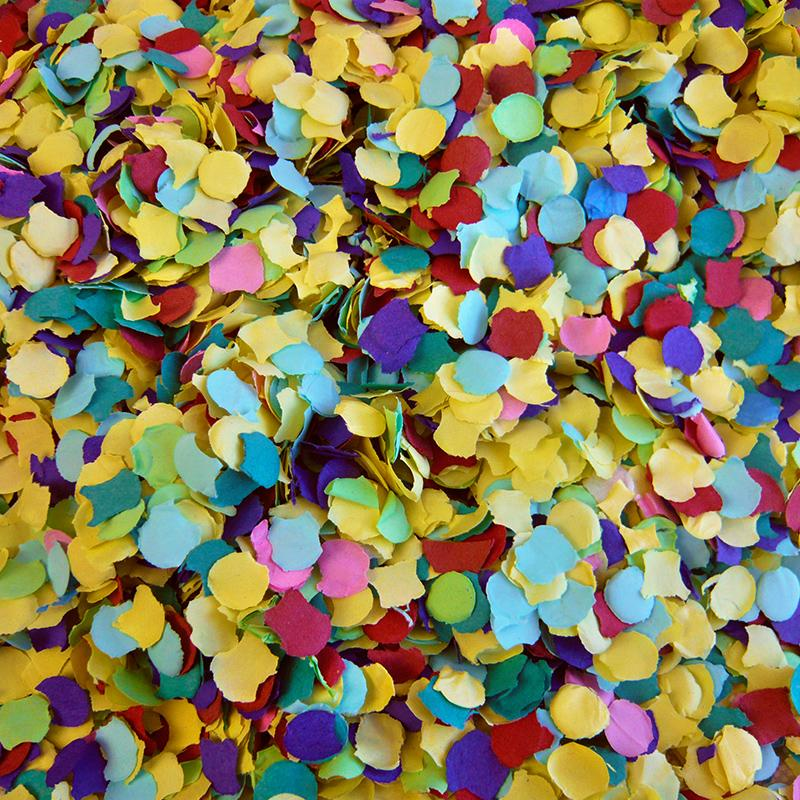 1kg Circle Tissue Confetti 20mm