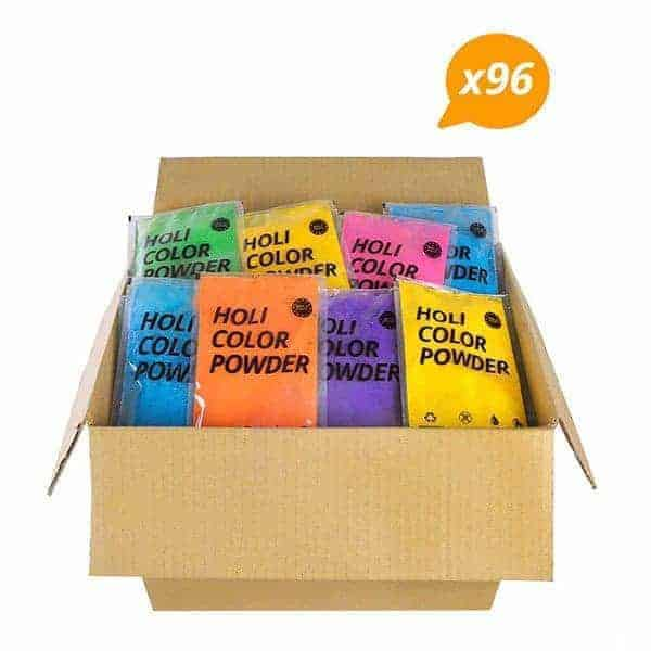 Holi Powder Mixed 96x100g Pack