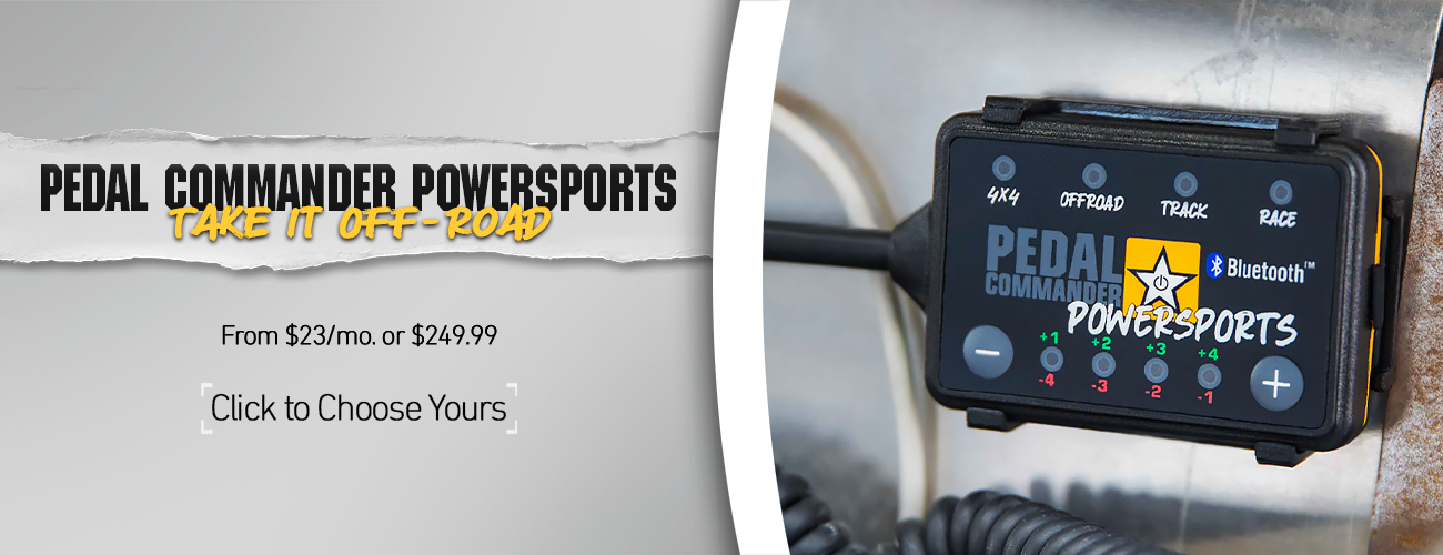 Pedal Commander Powersports Banner