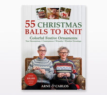 Load image into Gallery viewer, A book cover of 55 Christmas Balls to Knit