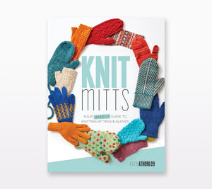 A book cover of Knit Mitts by Kate Atherley