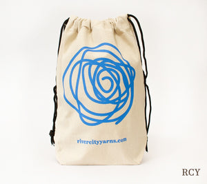 RCY Canvas Drawstring Project Bag with RCY logo