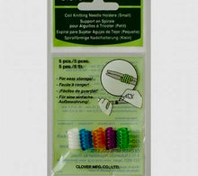 Load image into Gallery viewer, A package of Clover Coil Knitting Needle Holders size small
