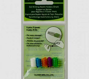 A package of Clover Coil Knitting Needle Holders size small