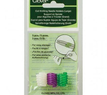 Load image into Gallery viewer, A package of Clover Coil Knitting Needle Holders size large