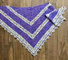 Load image into Gallery viewer, Over the Willamette Shawl (larger version) in two colours