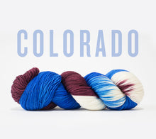 Load image into Gallery viewer, A skein of RCY Hat Trick in Colorado
