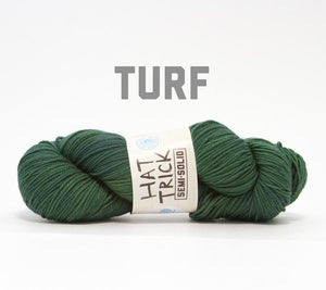 A skein of RCY Hat Trick Semi-Solid in Turf