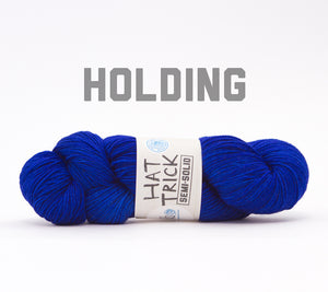 A skein of RCY Hat Trick Semi-Solid in Holding