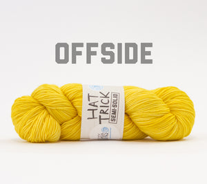 A skein of RCY Hat Trick Semi-Solid in Offside