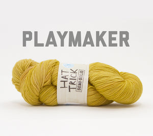 A skein of RCY Hat Trick Semi-Solid in Playmaker