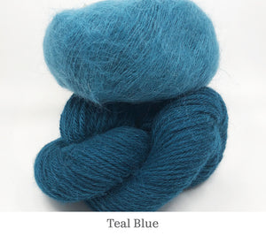 Boredom Buster: Annabella's Cowl in Teal Blue