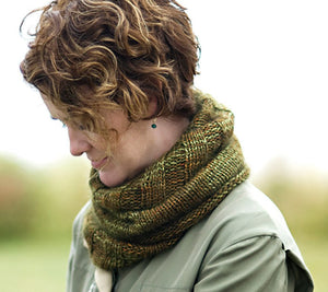 A model wearing Annabella's Cowl